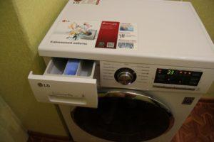 использование стиральной машины LG