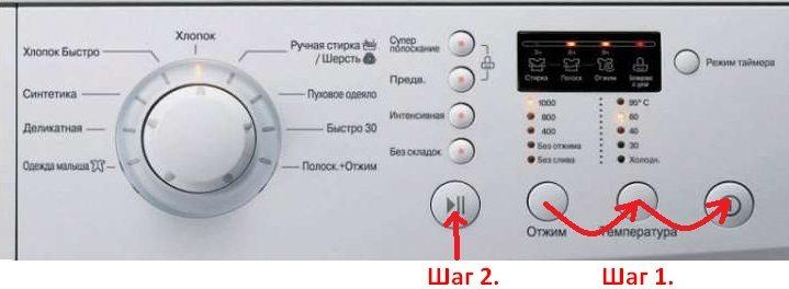 Кнопки запуска теста