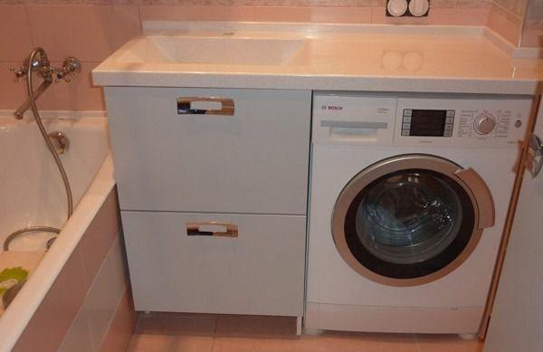 Мебель для стиральной машины в ванной