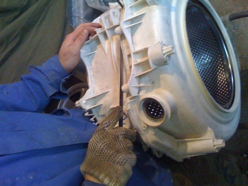 пилим бак стиральной машины Индезит