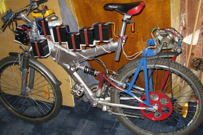 батареи на велосипеде