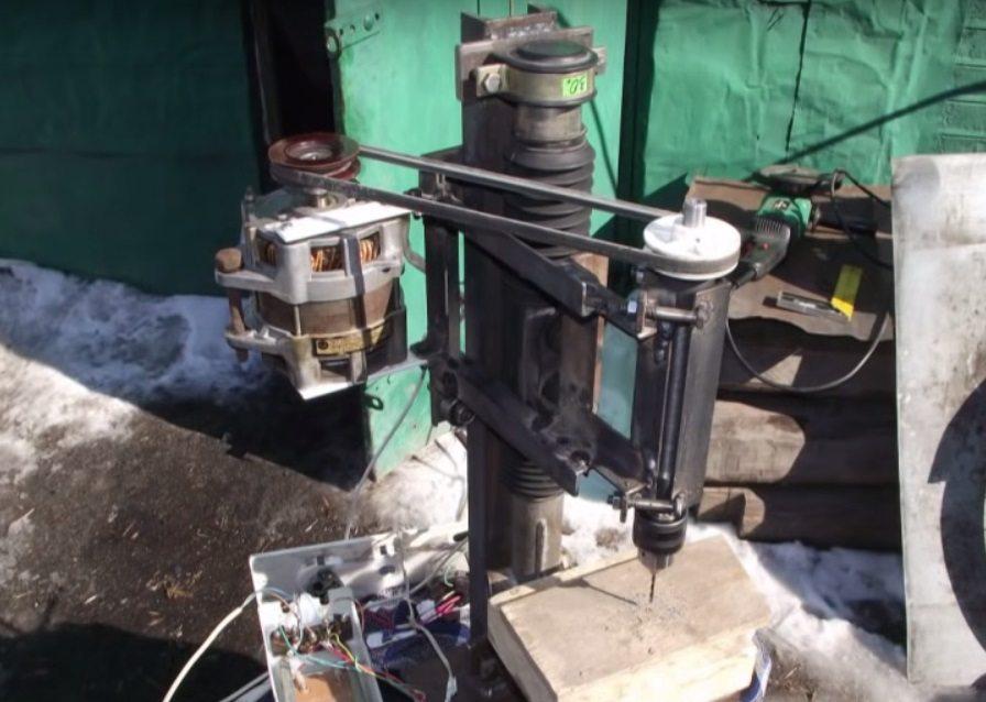 установка двигателя на станок