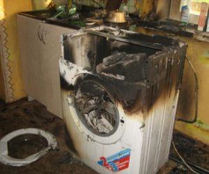 сгорела стиральная машина