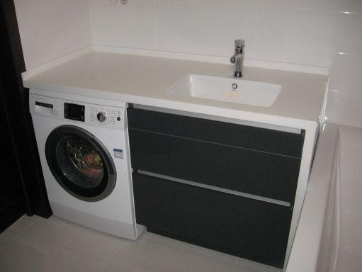 Тумба для стиральной машины в ванной