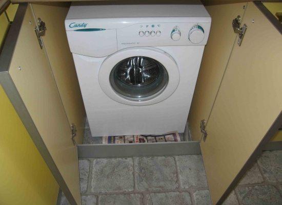 Как выбрать шкаф под стиральную машину на кухню
