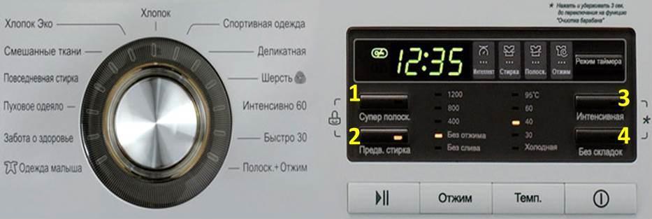 lg панель управления