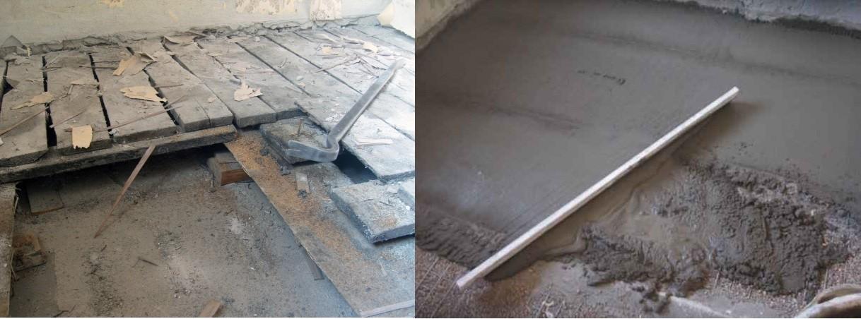 бетонная платформа под стиральную машину