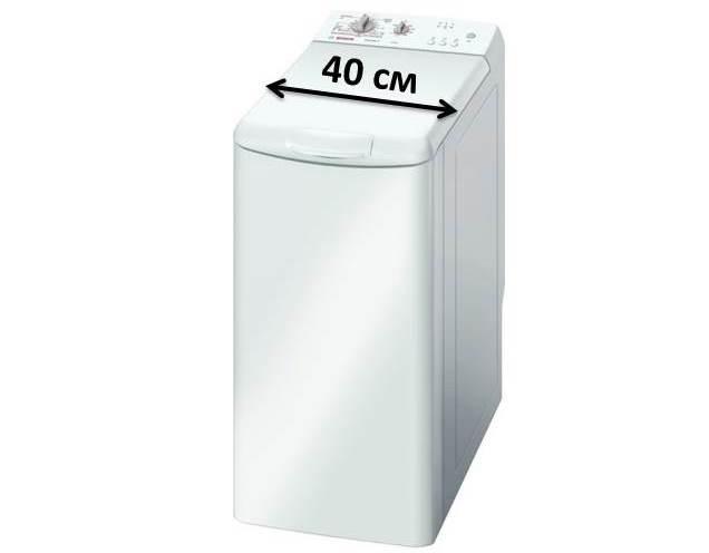 Узкие стиральные машины с вертикальной загрузкой до 40 см