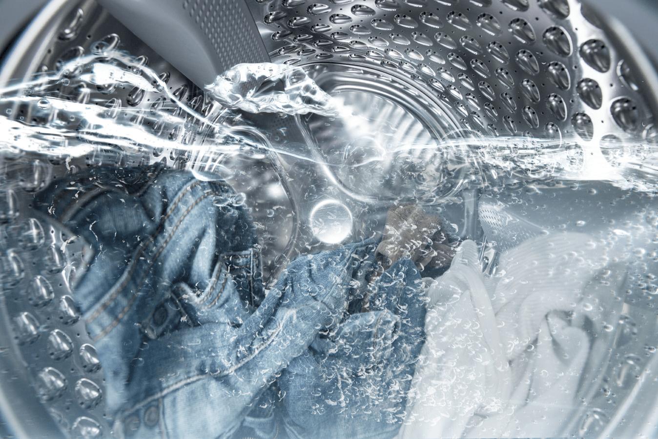 В барабане стиральной машины остается вода после стирки