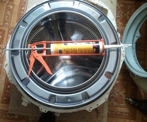 Чем склеить бак стиральной машины