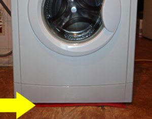 установка стиральной машины на деревянный пол
