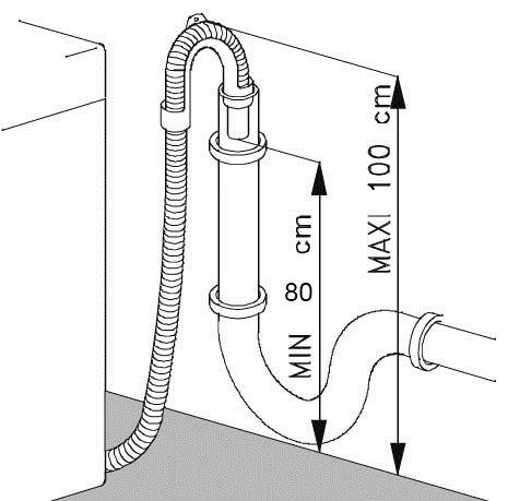 высота подключения к канализации