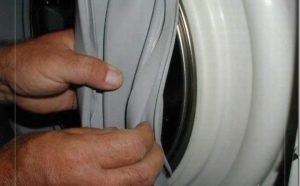 Как снять манжету люка стиральной машины