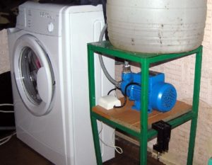 Подключение стиральной машины на даче без водопровода