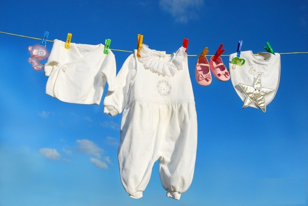сушим одежду малыша