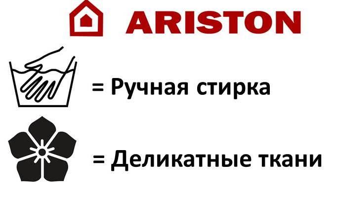 Значки на машинке ariston