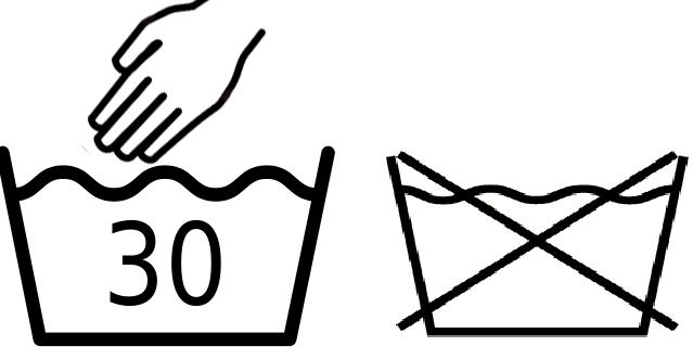 Значок - Машинная стирка запрещена