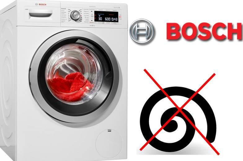 Стиральная машинка Бош не отжимает