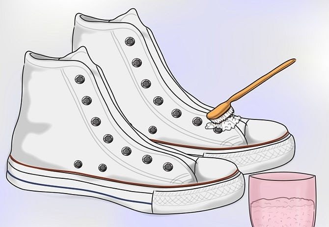 чистка кед зубным порошком