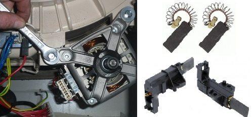 замена щеток коллекторного движка стиральной машины