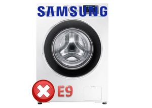 Ошибка E9 в стиральной машине Самсунг