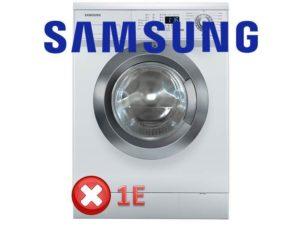 1E в стиральной машине Samsung