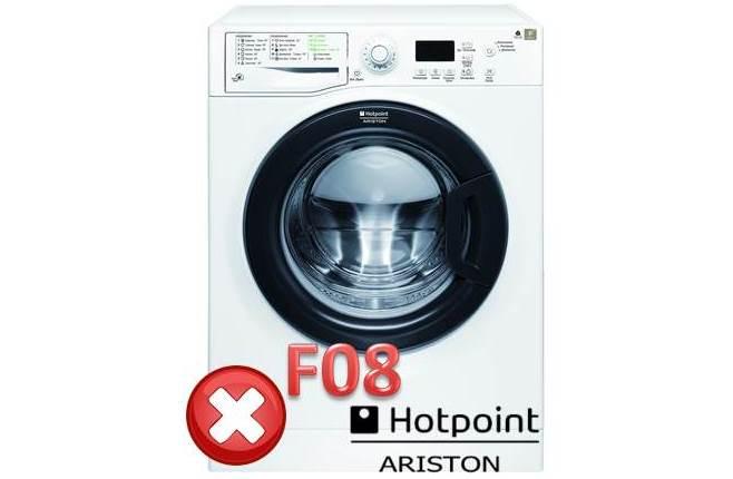 Ошибка F 08 в стиральной машине Аристон