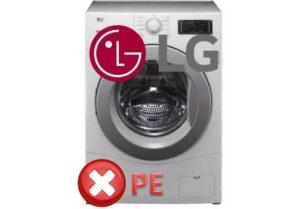 ошибка PE в стиралках LG