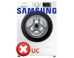 Стиральная машина Самсунг — ошибка UC