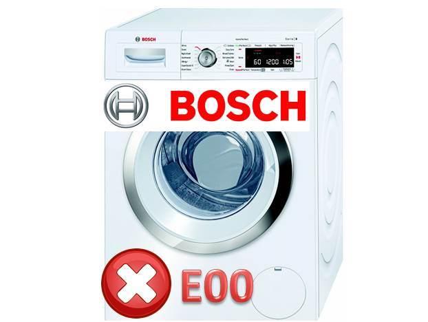 Стиральная машина Bosch — ошибка E00