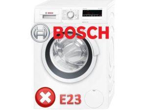 Ошибка E23 в стиральной машине Bosch