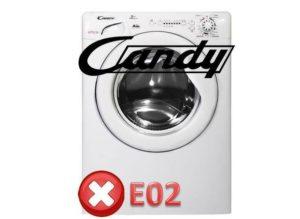 ошибка Е02 на Канди