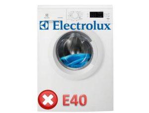 Ошибка E40 в стиральной машине Электролюкс