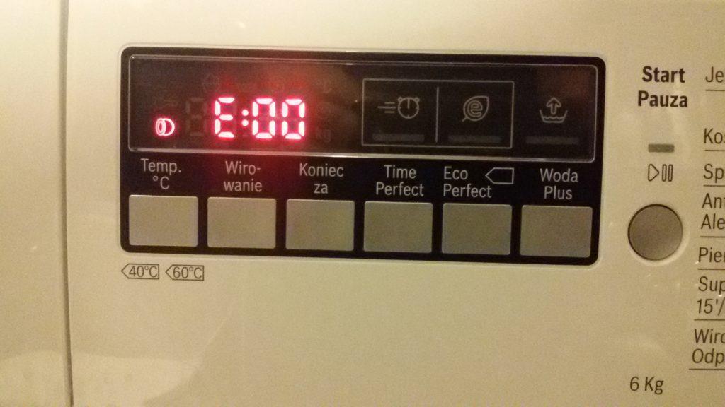 ошибка е00 на стиральной машине Бош