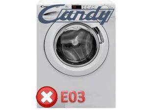 Ошибка E03 в стиральных машинах Канди