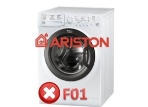 Ошибка F01 в стиральной машине Ariston