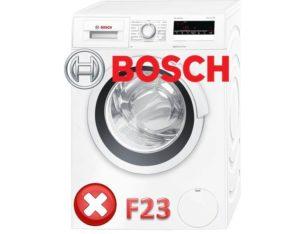 ошибка F23 в машинках Бош