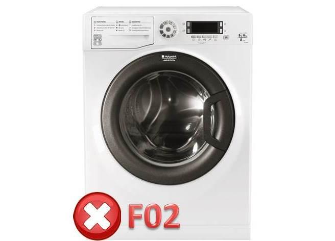 Ошибка F02 в стиральной машине Ariston