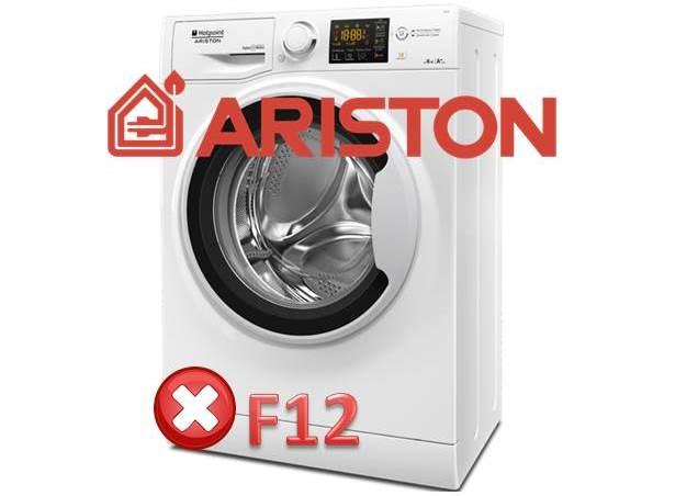 Ошибка F12 на стиральной машине Ariston