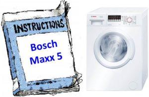 Стиральная машина Bosch Maxx 5 - инструкция по эксплуатации