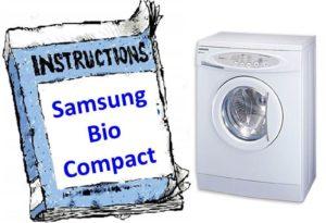 Стиральная Машина Samsung Bio Compact Fuzzy S821 инструкция - картинка 2