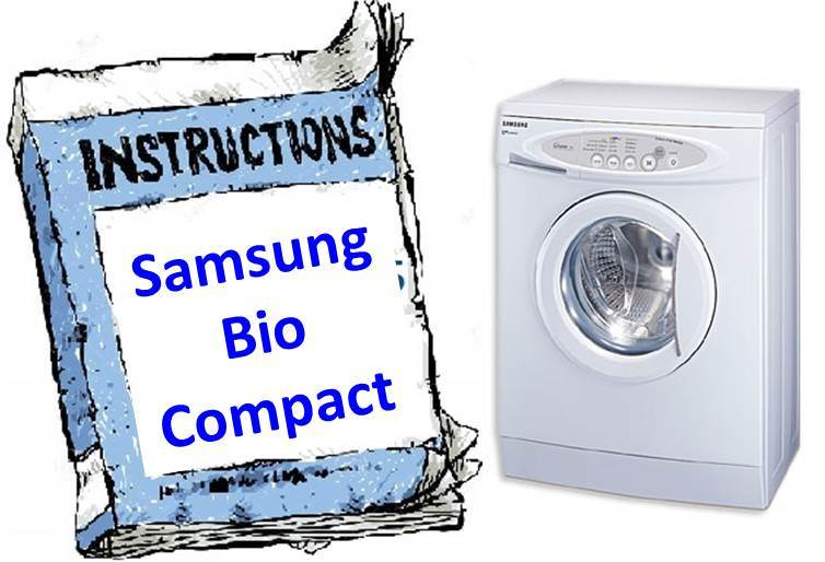 Инструкция для стиральной машины (S821) Samsung Bio Compact