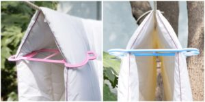 клипса для сушки одеяла на веревке