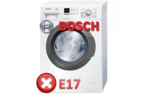 Ошибка E17 в стиральной машине Bosch