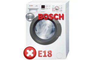 Ошибка E18 в стиральной машине Bosch