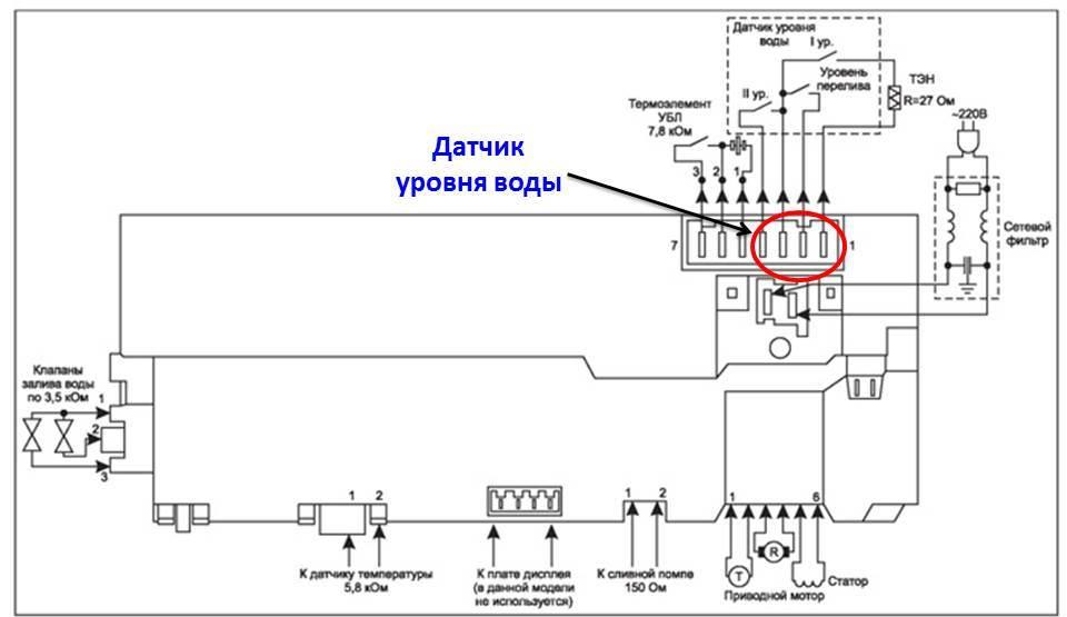 схема внешних соединений модуля