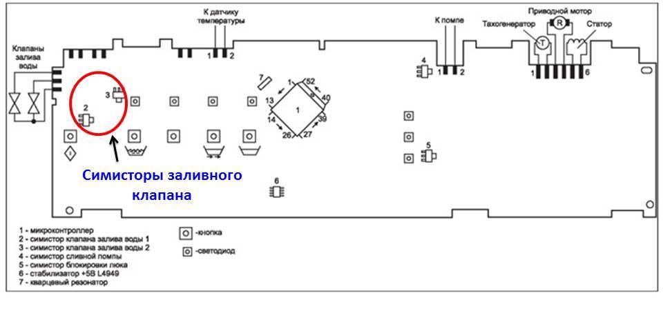 схема модуля СМ Бош