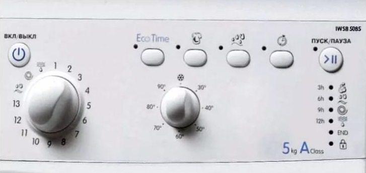 Индезит IWSB 5085 панель управления