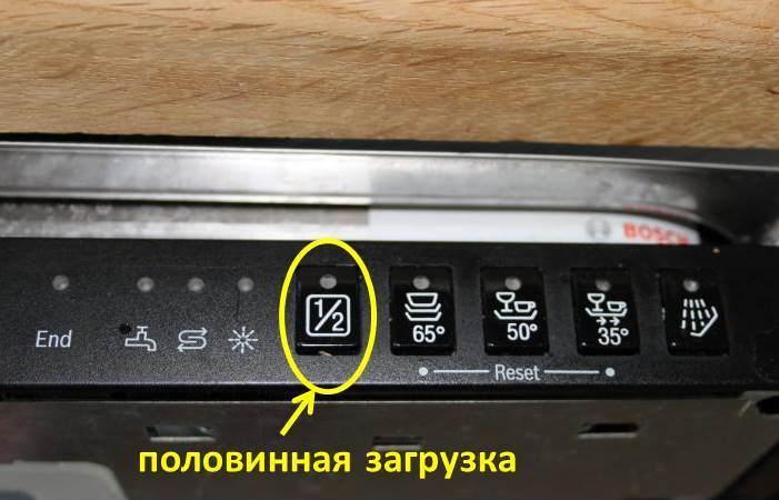 Что такое половинная загрузка посудомойки