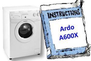 инструкция к Ardo A600X